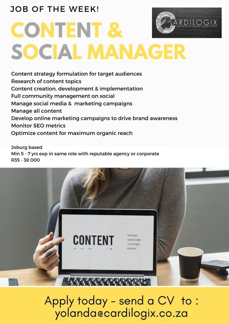 Content & Social Manager