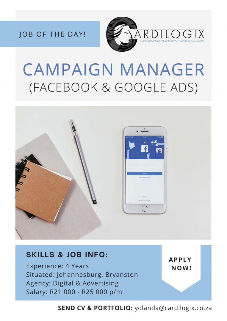 Digital Campaign Manager (Facebook & Google Ads)