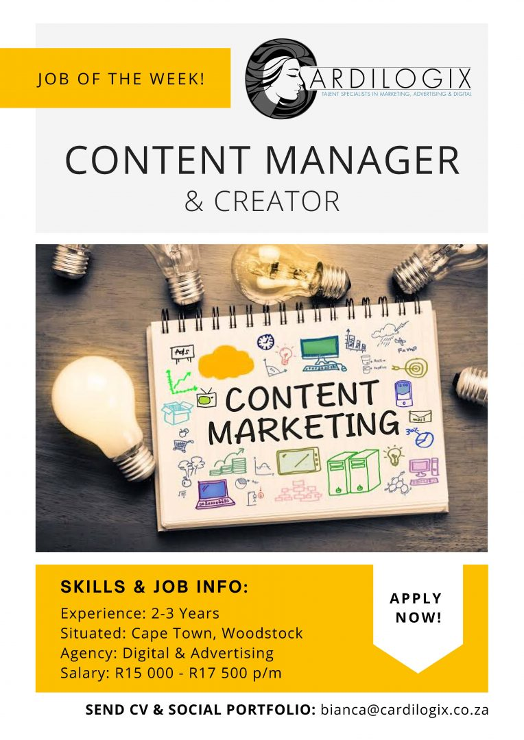 Content Manager Job Cape Town