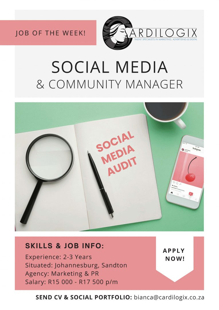 Social Media Community Manager Job Joburg