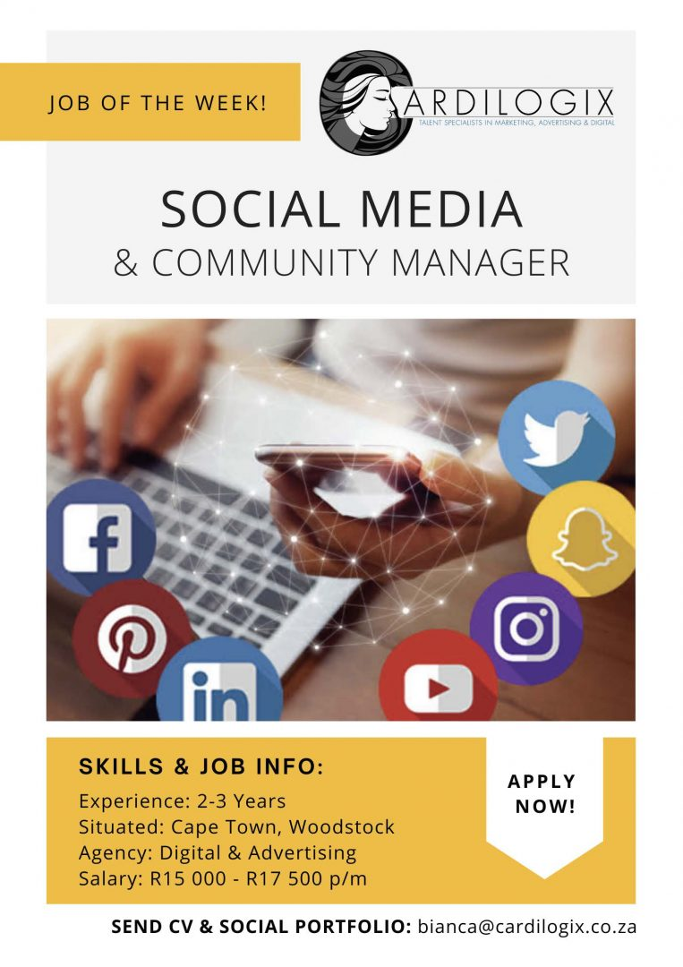 Social Media & Community Manager Job