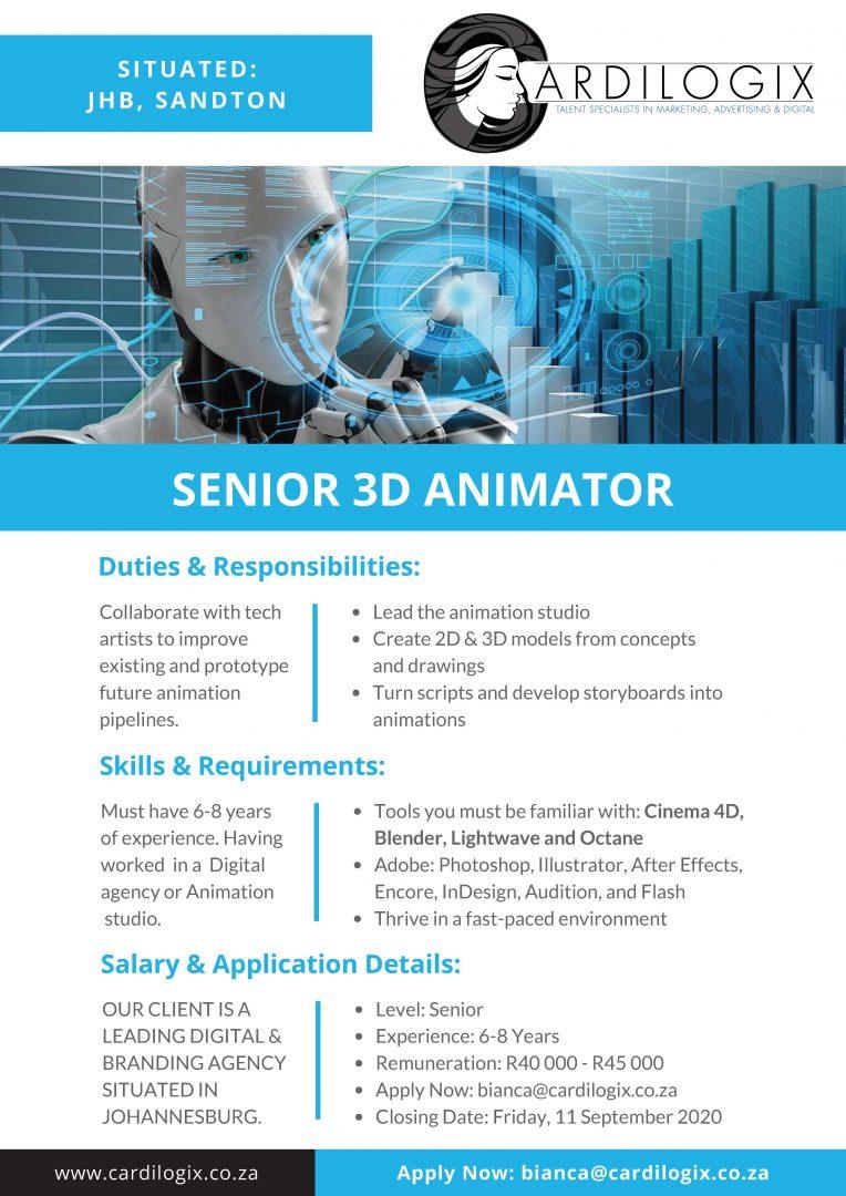 Senior 3D Animator