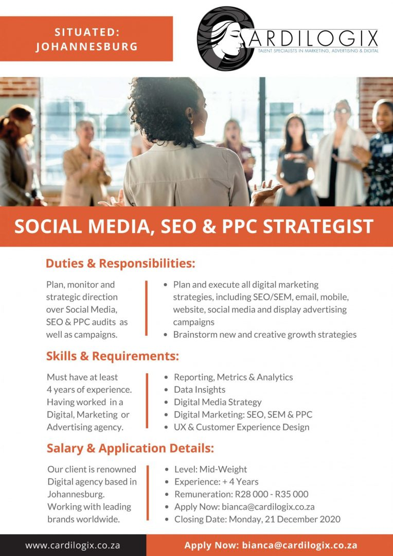 Social Media, SEO & PPC Strategist