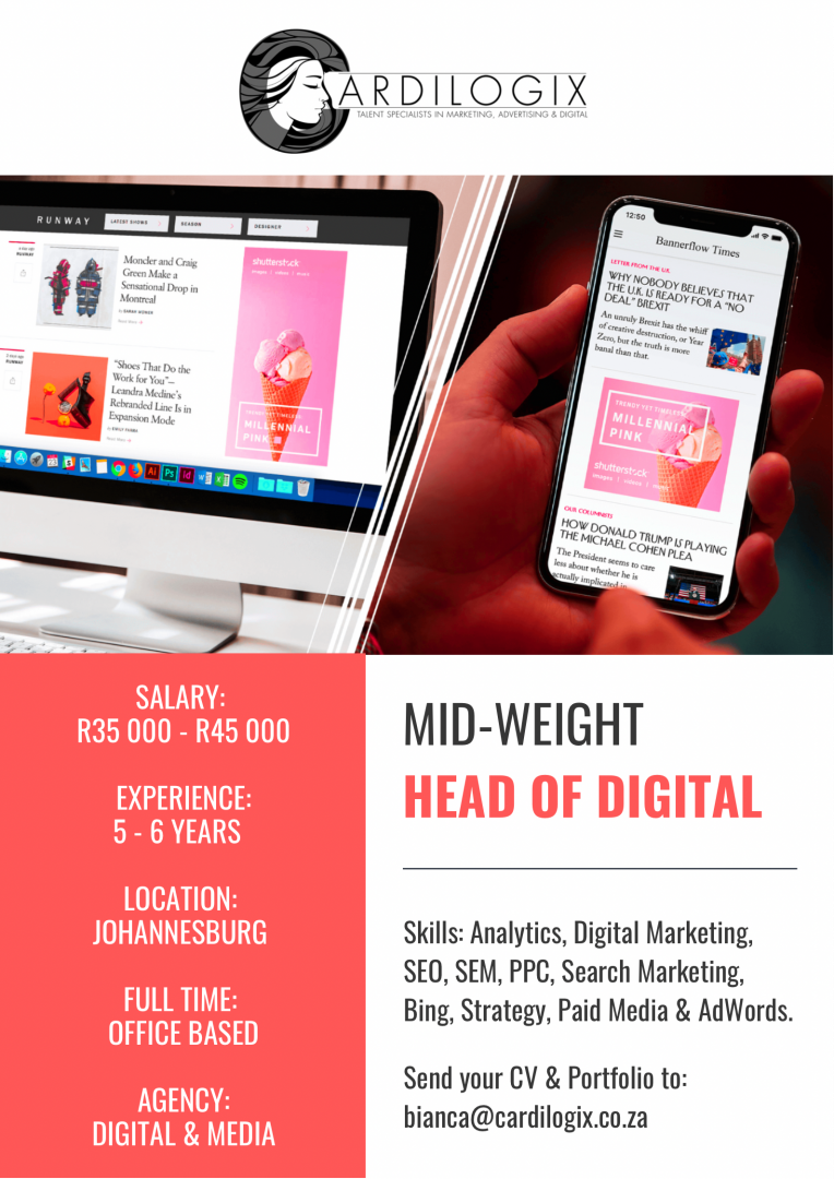 Mid-Weight Head of Digital