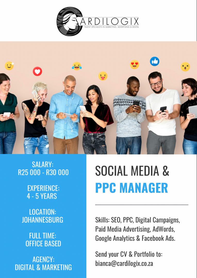 Social Media & PPC Manager
